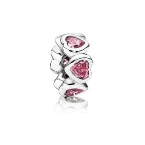 Pink Sparkling Heart Spacer 791252CZS