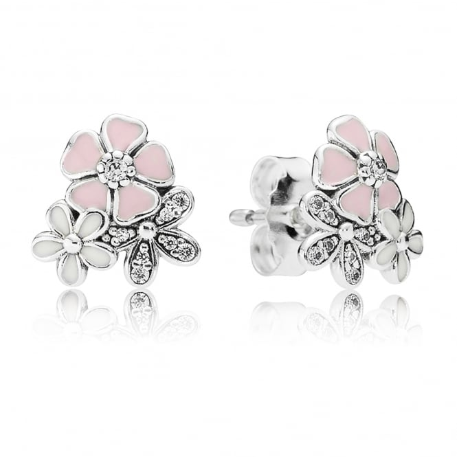 PANDORA Poetic Blooms Stud Earrings 290686ENMX