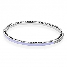 Purple Radiant Hearts Bangle 590537EN66
