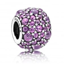 Purple Shimmering Droplets Charm 791755CFP