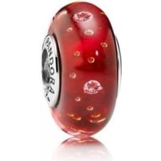 Red Fizzle Murano Charm 791631CZ