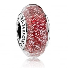 Red Shimmer Glass Murano Charm 791654