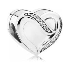 Ribbon of Love Charm 791816CZ