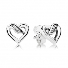 Ribbon of Love Stud Earrings 290736CZ
