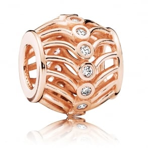 Rose Art Deco Charm 780001CZ