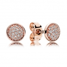 Rose Dazzling Droplets Stud Earrings 280726CZ