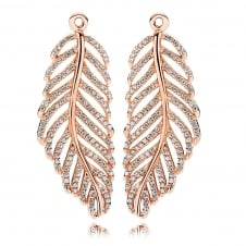 Rose Feather Earring Pendants 280680CZ