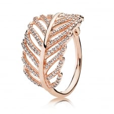Rose Feather Ring 180886CZ