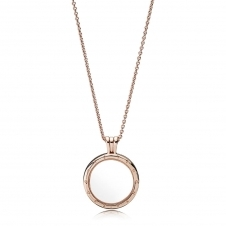 Rose Floating Locket Necklace - Medium 387250-60