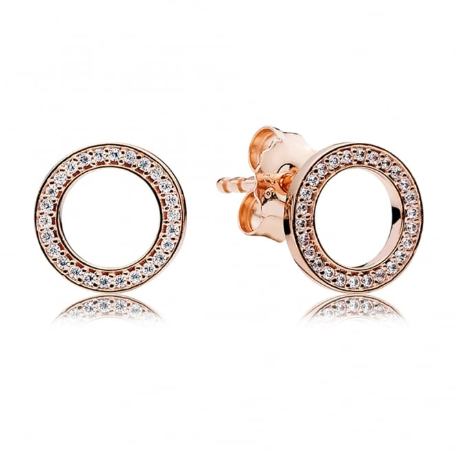 PANDORA Rose Forever Stud Earrings 280585CZ