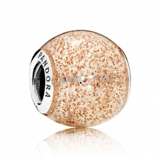 Rose Golden Glitter Ball Charm 796327EN145