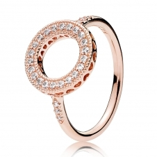 Rose Hearts Halo Ring 181039CZ