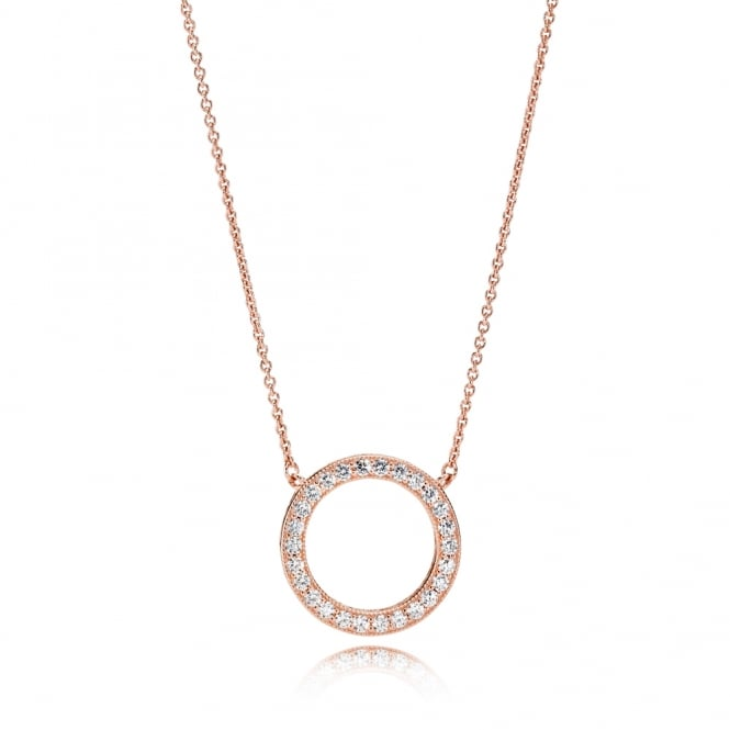PANDORA Rose Hearts of Necklace 580514CZ-45