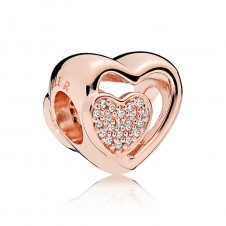 Rose Joined Together Charm 781806CZ