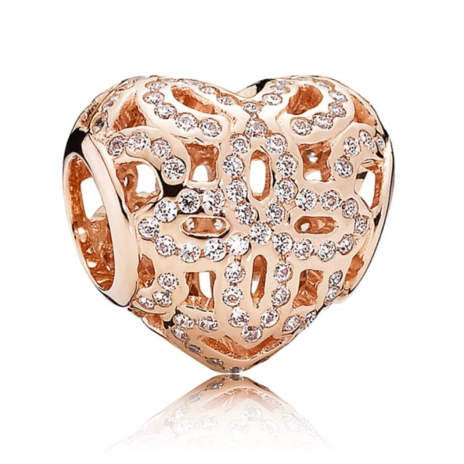 PANDORA Rose Love and Appreciation Openwork Charm 780003CZ
