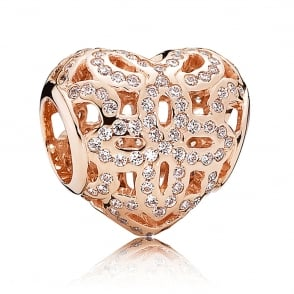 Rose Love and Appreciation Openwork Charm 780003CZ