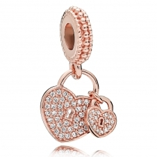 Rose Love Locks Pendant Charm 781807CZ