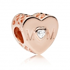 Rose Mother Heart Charm 781881CZ
