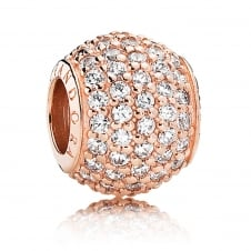 Rose Pave Ball Charm 781051CZ