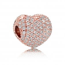 Rose Pave Open My Heart Clip Charm 781427CZ