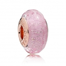 Rose Pink Shimmer Glass Murano Charm 781650