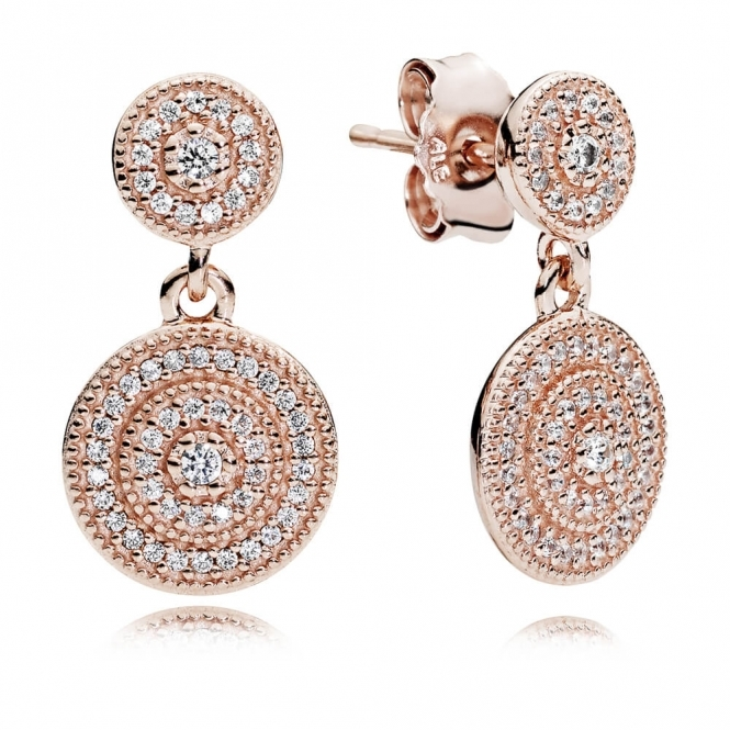 PANDORA Rose Radiant Elegance Drop Earrings 280688CZ