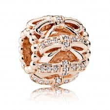 Rose Shimmering Sentiments Charm 781779CZ