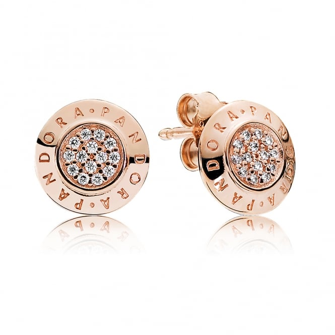 PANDORA Rose Signature Stud Earrings 280559CZ
