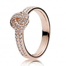 Rose Sparkling Love Knot Ring 180997CZ