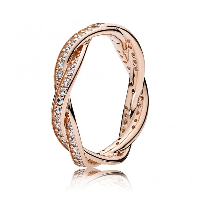 PANDORA Rose Twist of Fate Ring 180892CZ
