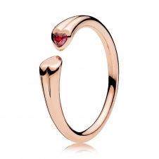 Rose Two Hearts Ring 186570CZR