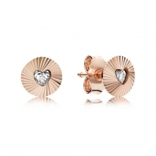 Rose Vintage Fans Stud Earrings 287297CZ