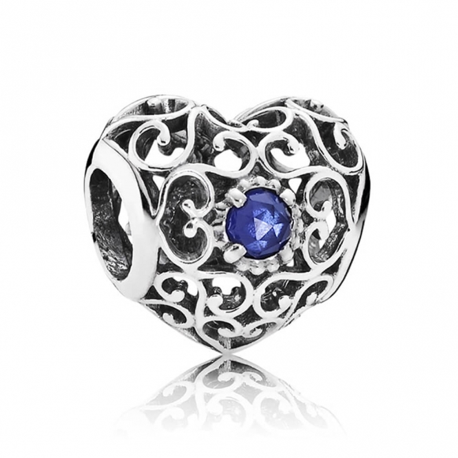 PANDORA September Heart Birthstone Charm 791784SSA