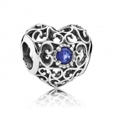 September Heart Birthstone Charm 791784SSA