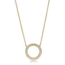 Shine Hearts Necklace 367121CZ-45
