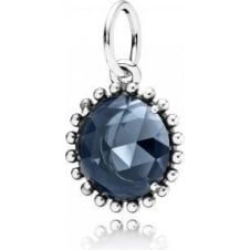 Shining Midnight Crystal Pendant 390361NBC