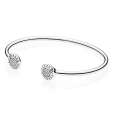 Signature Open Silver Bangle 590528CZ
