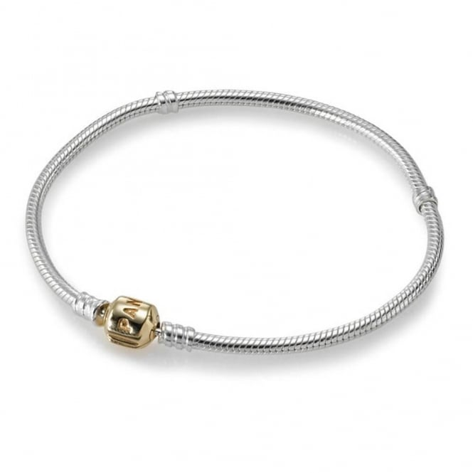 PANDORA Silver Bracelet with Gold Clasp 590702HG
