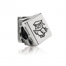 Silver Study Books Charm 790536