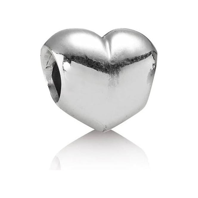 PANDORA Smooth Silver Heart Bead 790137