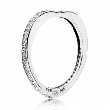 Sparkling Arcs of Love Ring 197095CZ