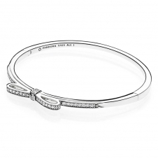 Sparkling Bow Bangle 590536CZ