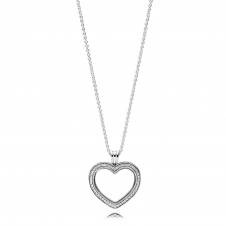 Sparkling Floating Heart Locket - Medium 397230CZ-60
