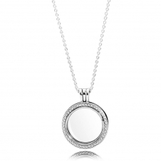 Sparkling Floating Locket Necklace 396484CZ-60