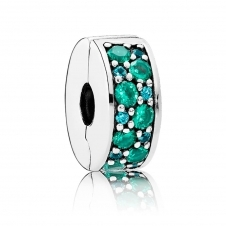 Teal Mosaic Shining Elegance Spacer Clip 791817MCZMX