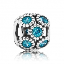 Teal Openwork Sparkling Circles Charm 791296MCZ