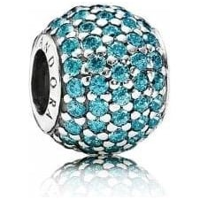 Teal Pave Ball Charm 791051MCZ