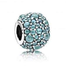 Teal Shimmering Droplets Charm 791755MCZ