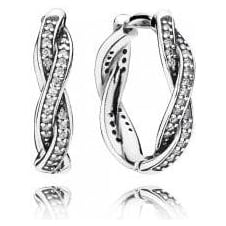 Twist of Faith Hoop Earrings 290576CZ
