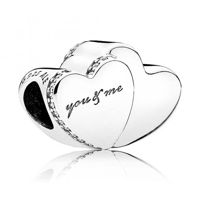PANDORA Two Hearts Charm 796560CZ